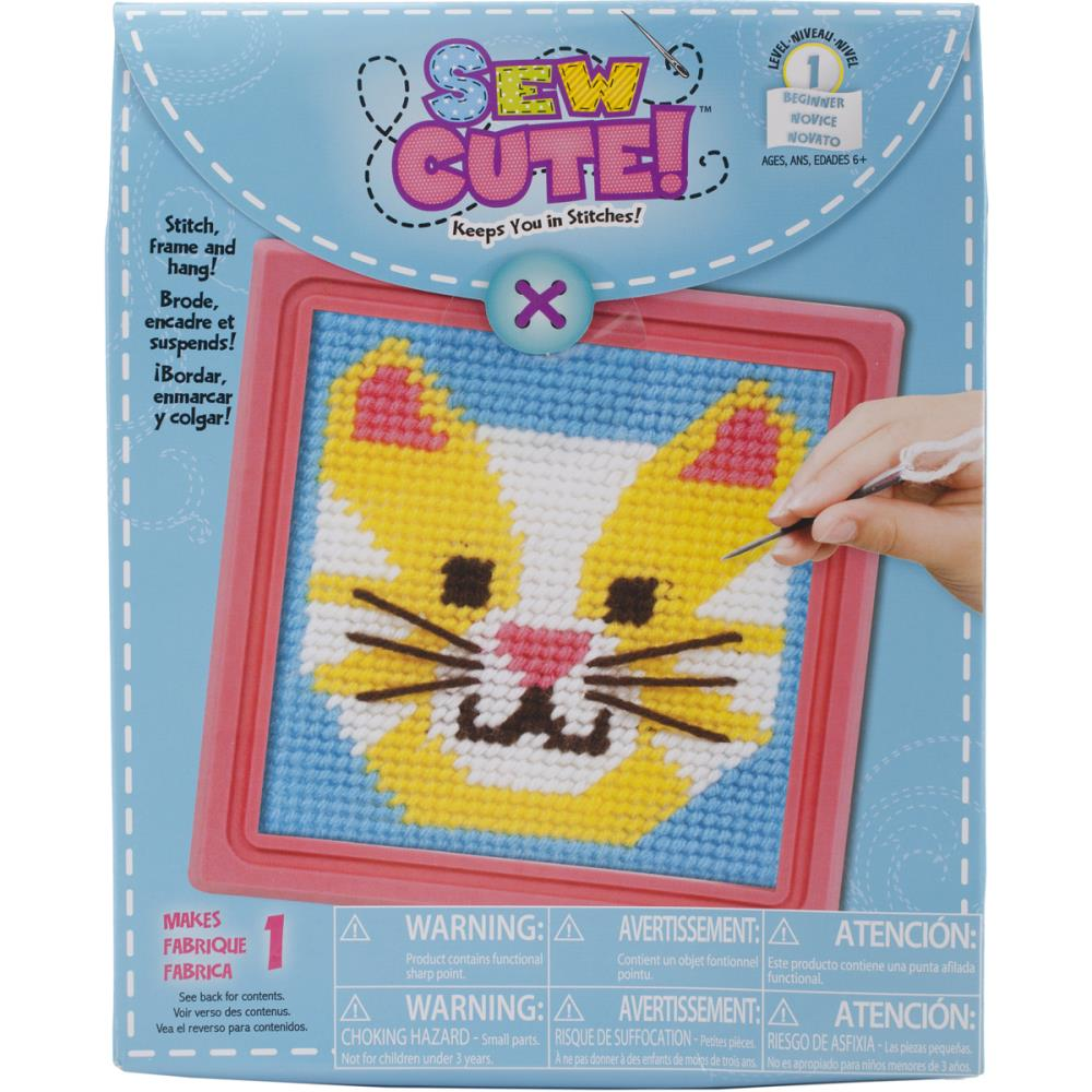 2565a024ff149 Sew Cute CAT Stitching Kit 59338 Needlepoint for Kids  4.95  each kit