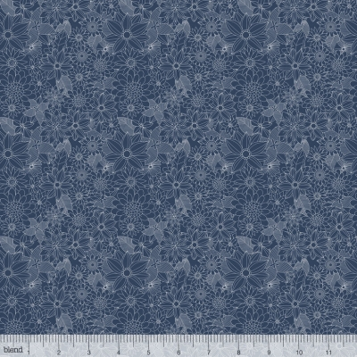 Blend Floral Pets by Mia Charro 129 101 04 2 Navy Sigrid $9.99/yd