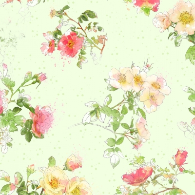 9c4b950099be Wilmington Painting Paris by Katie Pertiet 16504 735 Green Floral Toss  $10.30/yd PREORDER DUE AUG/SEPT '19