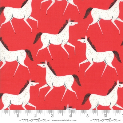 Horse Blank Greeting Card by Alex Clark Art Red Coat Pony Rosettes /& Chickens