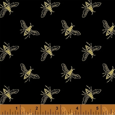 Botanical Meadow Bugs Linen Grey FabricInsects Nature Voyage StyleIn Stock