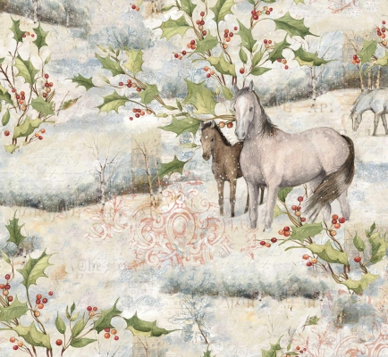 1be4709ba Springs Christmas 2019 - 68257 Winter Horse Scenic $7.99/yd PREORDER DUE  JULY/AUG '19