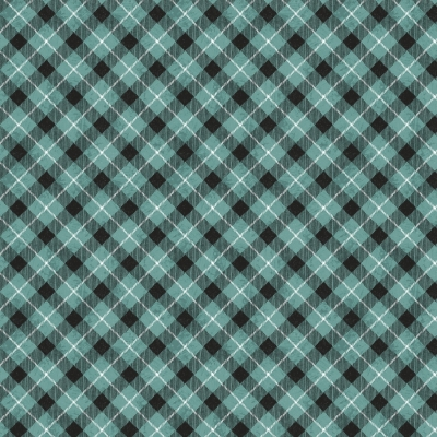 05d54f2bf9c81 Wilmington Woodland Friends by Michael Davis 96451 491 Teal Check $10.30/yd