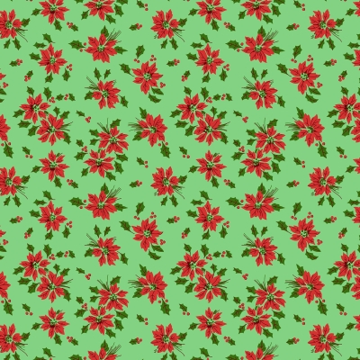 0d718e82753 Wilmington Greetings by Kaye England 98612 737 Lt Green Poinsettia Toss   9.80 yd