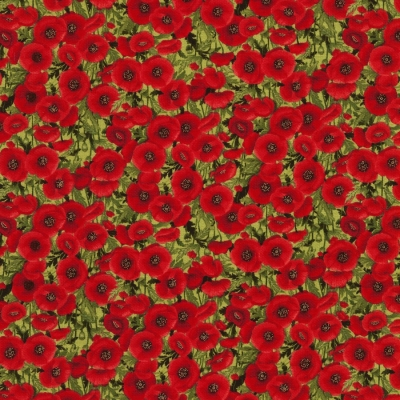 100/% Cotton Fabric Timeless Treasures Remembrance Day Poppies Sunset Poppy Panel