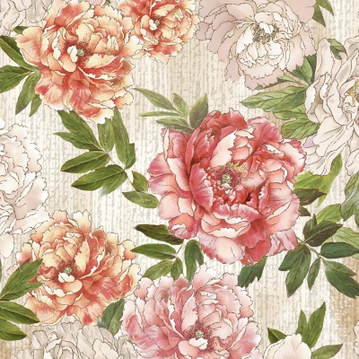 High-gradel Peony Painting Small Squares Female Silk Scarves,Bare Pink