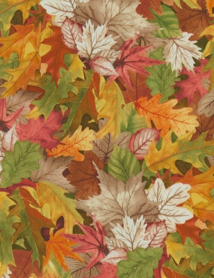 MU FALL FOLIAGE Autumn Leaves Leaf Forest Tree Novelty Flat-backed Craft Buttons