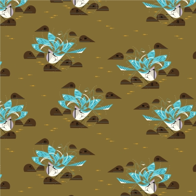 """Cotton Fabric Check by the yards 44/"""" Cozy Before dyeing green brown check"""