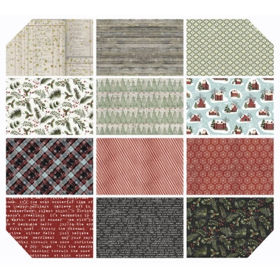 Trend Grey 100/% Cotton Fabric 5 piece Fat Quarter Bundle Patterned Blenders