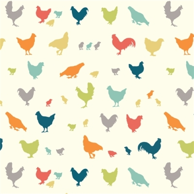 BLOOMS HENS FARM FRESH FABRICS HERBS 100/% cotton patchwork quilting fabric