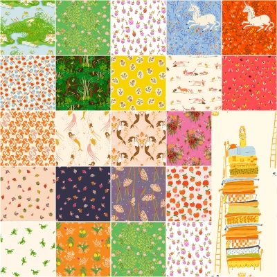 Nutcrackers Stacked-White Background-Fat Quarater-Hoffman Fabrics