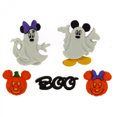 Dress It Up - Disney Mickey Buttons - JJ7925 Mickey   Minnie Ghosts 5  pieces  3.99 each package 1939d1299b