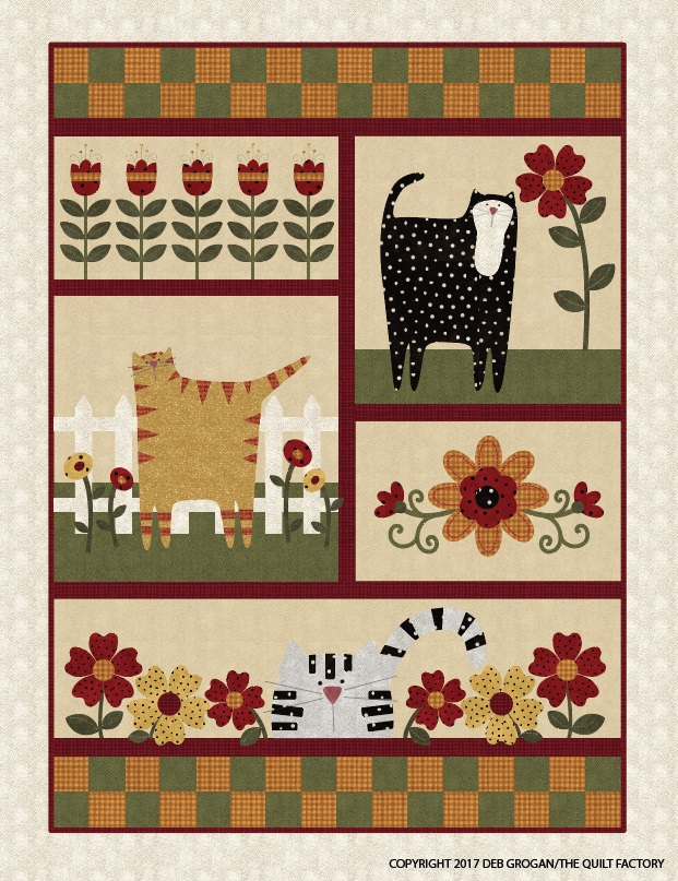 0d13c247887 The Quilt Factory KITTY CAT GARDEN Laser Cut Kit $115.00 each