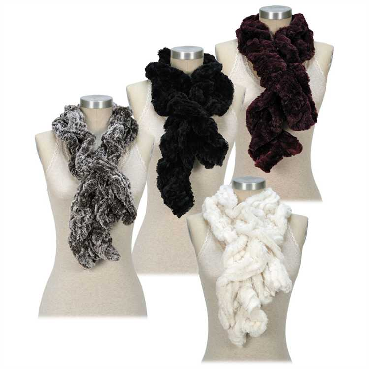 b0b75e58b81a Passion for Fashion Faux Fur Ruffle Scarf BROWN PF3353 $14.00/each