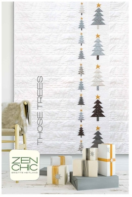 5db305b91a8 Moda White Christmas by Zen Chic THOSE TREES PATTERN TTQP  10.95 EACH