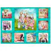 bcb00981c04 3 Wishes Good Dogs Too Digital by Connie Haley 14845 Multi Panel  11.70 yd  PREORDER DUE JULY AUG  19