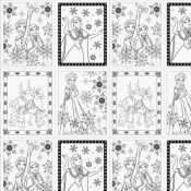 Camelot Disney Frozen Coloring Fabric 85190201 1 White Book Pages 1060 Yd