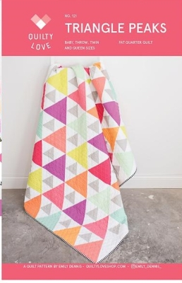 4208944828c38 Quilty Love Triangle Peaks Pattern  121  11.50 each