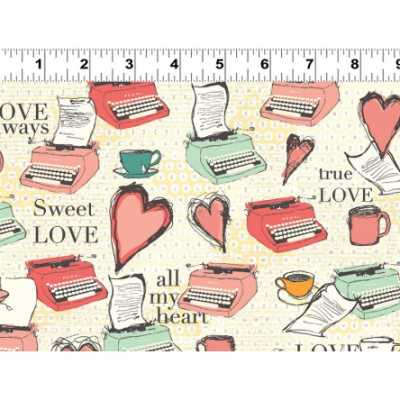 Clothworks All My Heart by Iron Orchid Design Y1566 100   Cotton Fabric